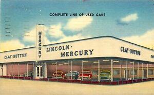 LINCOLN MERCURY AUTO DEALER, NEW ORLEANS, LOUISIANA, VINTAGE POSTCARD