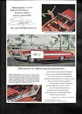 OLDSMOBILE 1962 STARFIRE ADVENTURE IN MOTORING EXCITEMENT! RED CONVERTIBLE AD