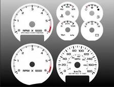 1998-2005 Chevrolet S10 Metric KMH Dash Cluster White Face Gauges 98-05