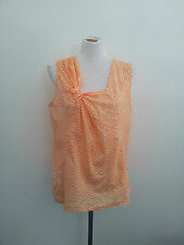 Pretty Pastels! Karen Walker size 14 peach & white top in excellent condition