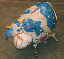 Whimsical Blue and White Cow Coin Bank