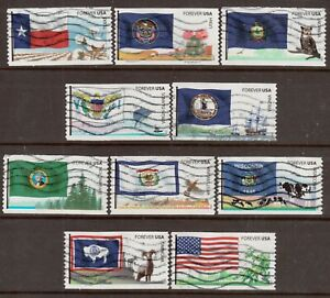 Scott #4323-32 Used Set of 10, Flags of Our Nation Set #6
