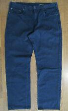 ORVIS 2KH0 5-Pocket Cotton TWILL Mens 36x31.5 INDIGO Blue Denim-Look CHINO Pants