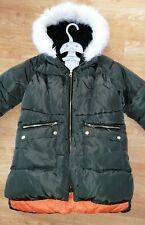 Matalan girls winter coat age 10 khaki fur trim hood