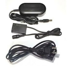 AC Adapter Kit + DC Coupler for Canon EOS Rebel SL2, EOS 200D, DIGITAL Camera