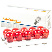 10 x 382 RED 12V P21W Car Stop Brake Tail Fog Light Single Filament Bulbs BA15S