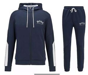 Hugo Boss Tracksuit Hooded Jacket & Pants Mens Navy New Season Size XLarge £119