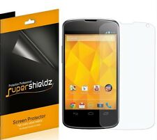 6 Clear Screen Protector Sheild with Cleaning Cloth for LG Nexus 4 E960/Google