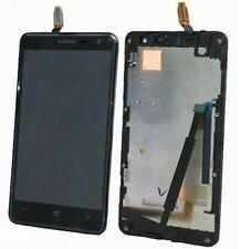 DISPLAY LCD+VETRO TOUCH SCREEN+FRAME per NOKIA LUMIA 625 COVER CORNICE NERO