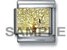 THE TREE of LIFE by GUSTAV 9MM ITALIAN PHOTO CHARM LINK painting art family love