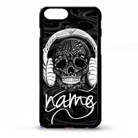 DJ Skull mc headphone ibiza cool music custom personalised name phone case cover