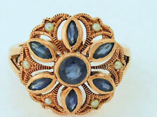 Ring Sapphire Rose Gold Vintage & Antique Jewellery