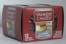 Yankee Candle 12 Scented Tea Light T/L Box Candles CARAMEL APPLE CAKE