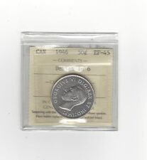 **1946 Hoof in 6 Design**,ICCS Graded Canadian Silver 50 Cent, **EF-45****