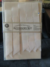 Craft Paper Card making / Accessory Kit/ Gartner studios 50 COUNT NEW  WHITE