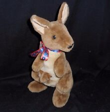"12"" VINTAGE CA AUSTRALIA KANGAROO MOM & BABY STUFFED ANIMAL PLUSH TOY SOUVENIR"