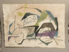 Abstract expressionist Modernist American Work On Paper By Fraydas