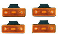 4x LED Begrenzungsleuchten Seitenmarkierungsleuchte 12V E9 Orange Traktor Hänger