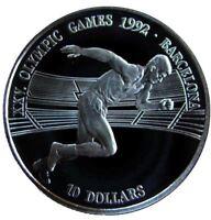 ISLAS COOK ISLANDS 1990. 10 DOLLARS PLATA PROOF JUEGOS