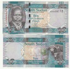 Sud South Sudan 10 pounds 2011     FDS  UNC        ref 4203