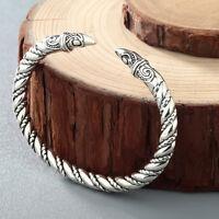 Handmade Vintage Viking Jewelry Men Large Bangles Twist Charm Bracelet Jewelry