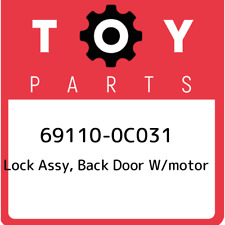 69110-0C031 Toyota Lock assy, back door w/motor 691100C031, New Genuine OEM Part