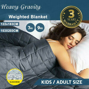 Premium Cooling Weighted Blanket Adults 7/9KG Heavy Gravity Deep Sleep Relax