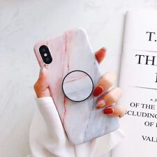 CHIC Marble Put Up Holder Stand Soft Case Cover For iPhone X 8Plus 7 6s