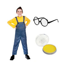 BOYS MISCHIEVOUS WORKER YELLOW FILM CHARACTER BOOK DAY WEEK FANCY DRESS COSTUME