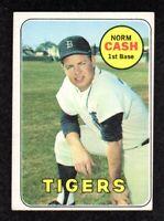1969 Topps #80 Norm Cash Detroit Tigers Vintage Baseball Card EX