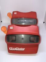 Lot of 2 Vintage Red Viewmaster 3D View-Master Viewer Toys