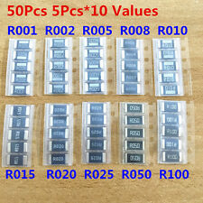 50PCS 10 Value 2512 SMD Alloy resistor assorted kit R001 R005 R010 R050 R100 1R