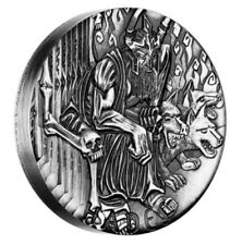 HADES 2014 Gods Of Olympus Tuvalu 2oz Silver High Relief Coin Mintage 1500