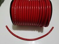8mm RED silicone SUPPRESSION CORE SPIRAL WOUND  SPARK PLUG WIRE foot TAYLOR