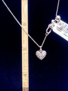 Brighton HEART necklace and matching earrings 16\u201d to 18\u201d long in silver and gold