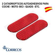 2 CATADIOPTRICOS - AUTOADHESIVO FORMA OVAL PARA BICI - MOTO - COCHE -QUADS - ETC
