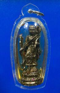 Phra Siwalee Monk oil Pendant Talisman Fortune Rich Thai Buddha Amulet