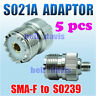 New Adaptor ( S021A ) SMA-F to SO239 for BAOFENG UV-5R Series Radio x 5 pcs
