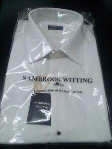 Mens 100% Cotton SAMBROOK White Marcella Formal Shirt RRP £49.95