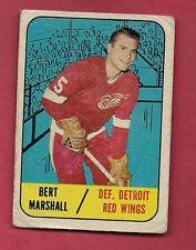 1967-68 TOPPS  # 45 RED WINGS BERT MARSHALL CARD