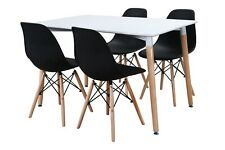 Conjunto de Mesa Wad 120 + 4 sillas Tower negras