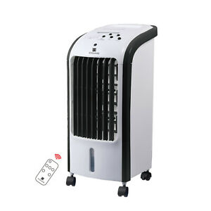 4L Portable Air Cooler Humidifier Cool Fan with Ice Box 3 Speed Control Swing