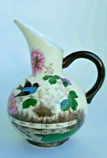 Antique Chinese Ivory Porcelain Vase-Bluebird & River Scene -Hand Painted.