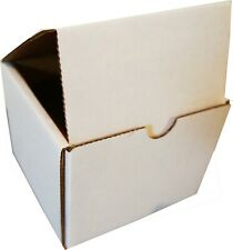 """White Indestructo Mailers 5 x 5 x 4"""" Uline lot of 100 strong durable boxes"""