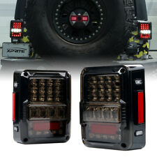 Xprite LED Brake Lights Rear Tail Lamp Smoke Lens for 07-18 Jeep Wrangler JK JKU