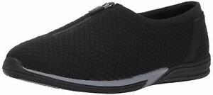 AEROSOLES Women's Traveler Black Fabric Memory Foam Zip Flats Size 10 $79
