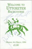 Racecard - Uttoxeter 4th March 1996 (Autographed)
