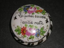 Antique French porcelain trinket box
