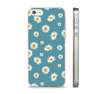 DAISIES POLKA DOTS FLOWERS PHONE CASE FITS APPLE IPHONE 4 5 6 7 8 SE PLUS X XS