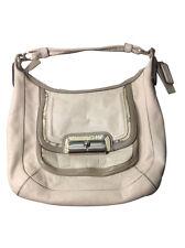 COACH Kristin Leather Spectator Shoulder Bag HOBO Purse 16803 Python IVORY TAUPE